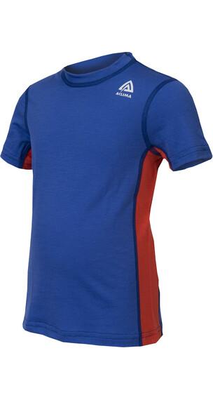 Aclima Children Lightwool T-Shirt Dazzling Blue/Poincia